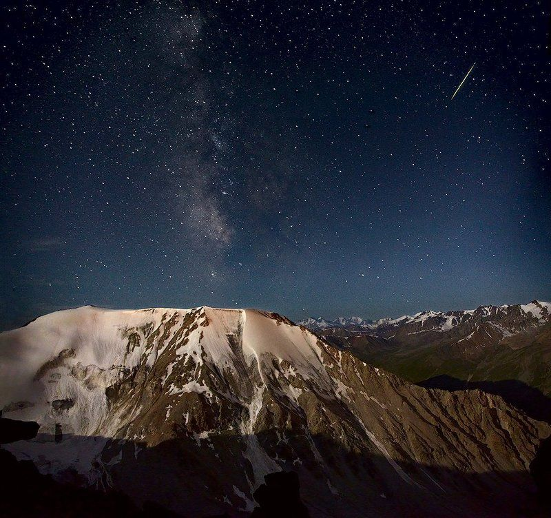 ночь, звёзды, метеор Загадай желаниеphoto preview