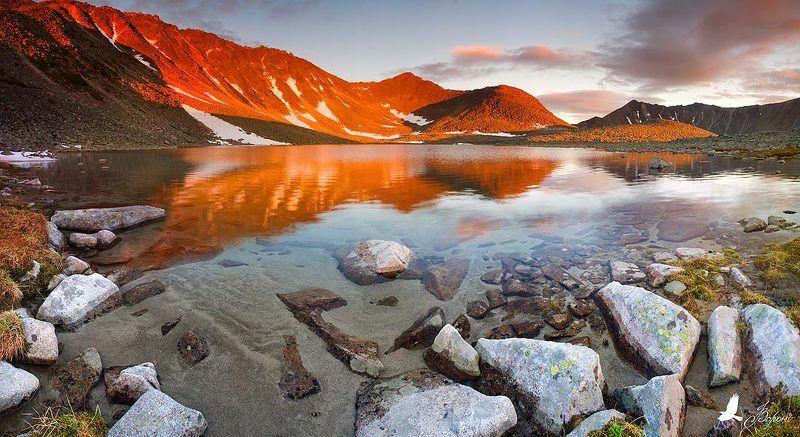 озеро, горы, заповедник, лето, панорама, магадан, полуостров кони Огненное Озероphoto preview