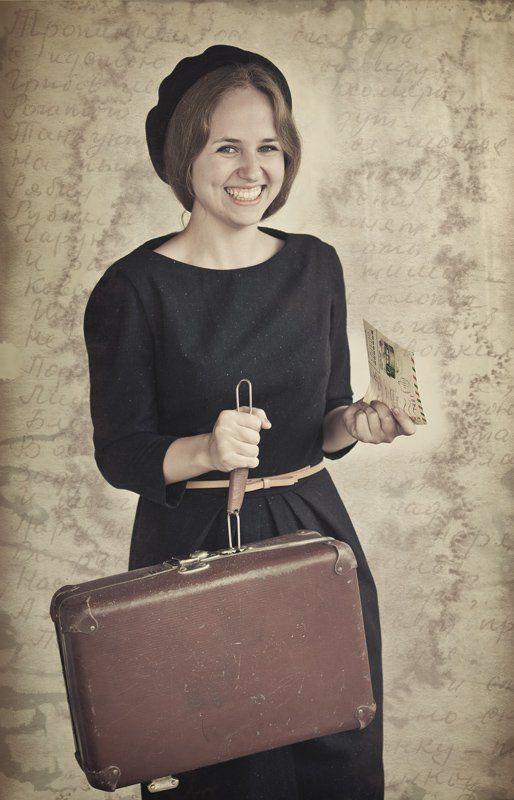 чемодан, носок, девушка, письмо Чемоданное настроениеphoto preview