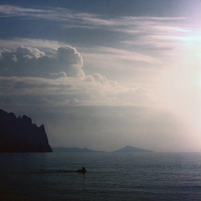 лисья бухта, киногородок крым, море, облака, горы, пезажи крыма, крым photo preview