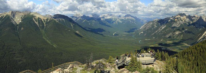 скалистые горы, лес, банф, канада \