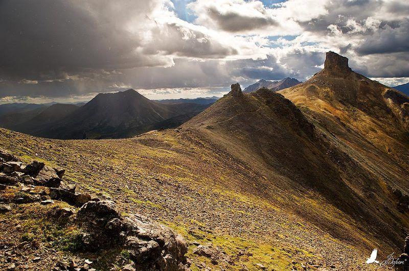 межпогодье, горы, погода, бараньи, тропы, останцы, карамкен Нечеловечьими тропамиphoto preview