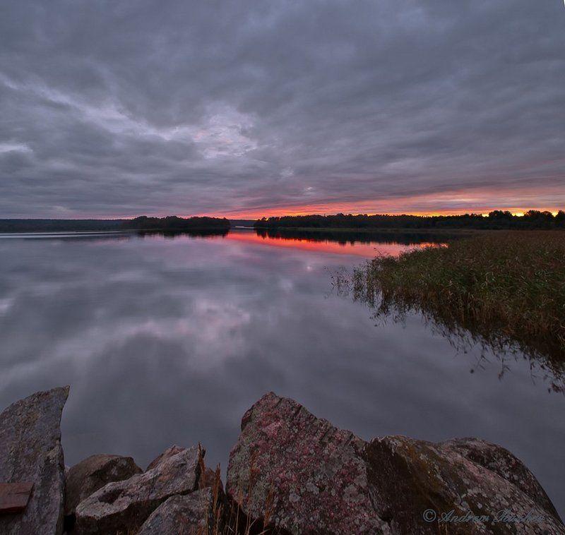 небо, закат, отражения На грани двух миров.photo preview