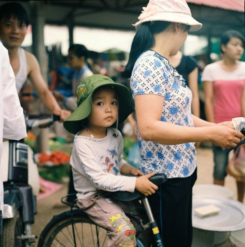 bac, ninh, -, vietnam. Go to market with mother.photo preview