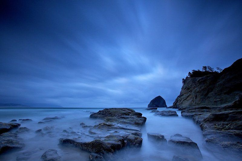 cape kiwanda, sunrisee, usa, oregon, ocean, water, blue Cape Kiwandaphoto preview
