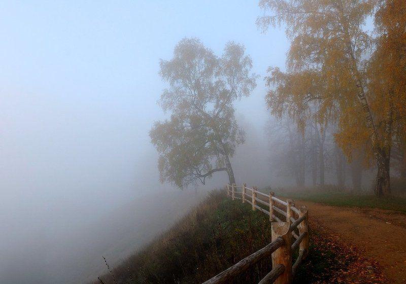 плёс, плес, осень, туман, соборная гора Октябрьphoto preview