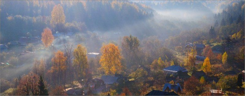 г. плёс, заречье, осень, туман Осенний туман Заречья.photo preview