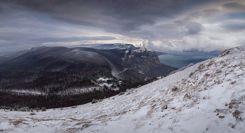 снег, крым, горы, зима первый снегphoto preview