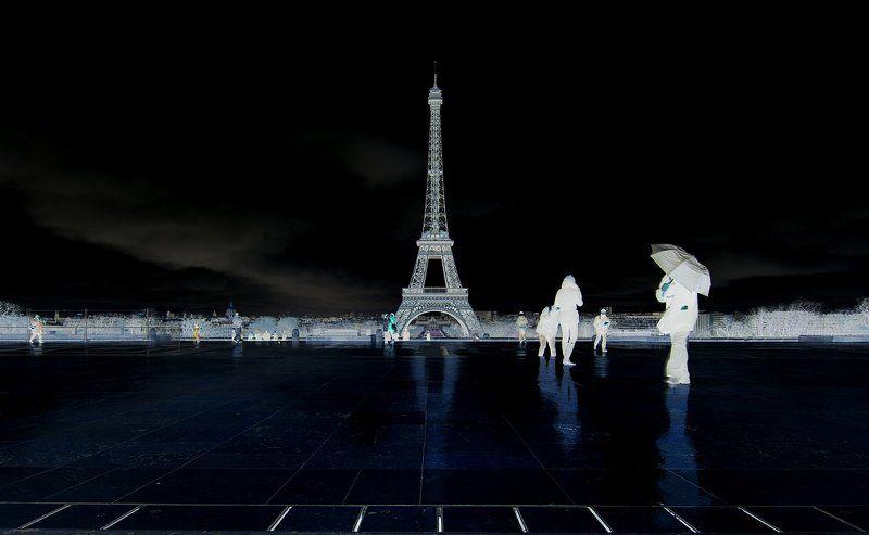 париж,франция,эйфелева башня,негатив photo preview
