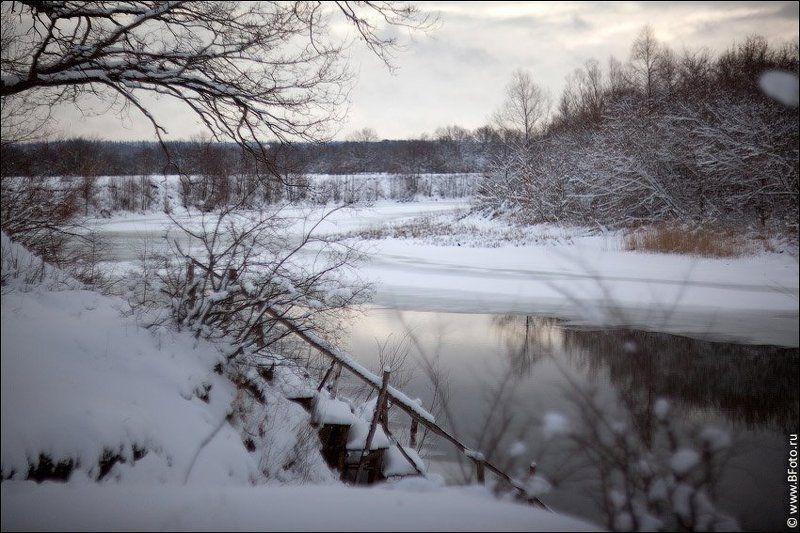 река, зима, пейзаж На речке зимойphoto preview