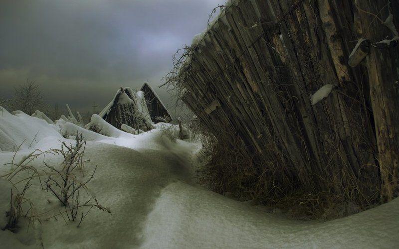 деревня, зима, гибель Хук.photo preview