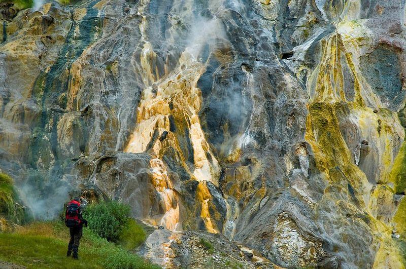 камчатка, долина, гейзеров, витраж, гейзер Витражphoto preview