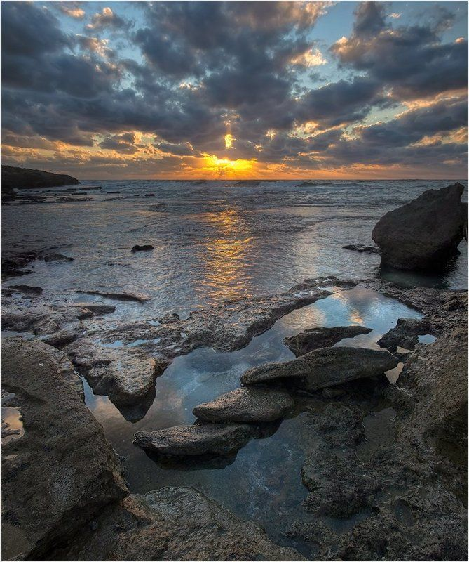 Январский закат на Средиземном мореphoto preview