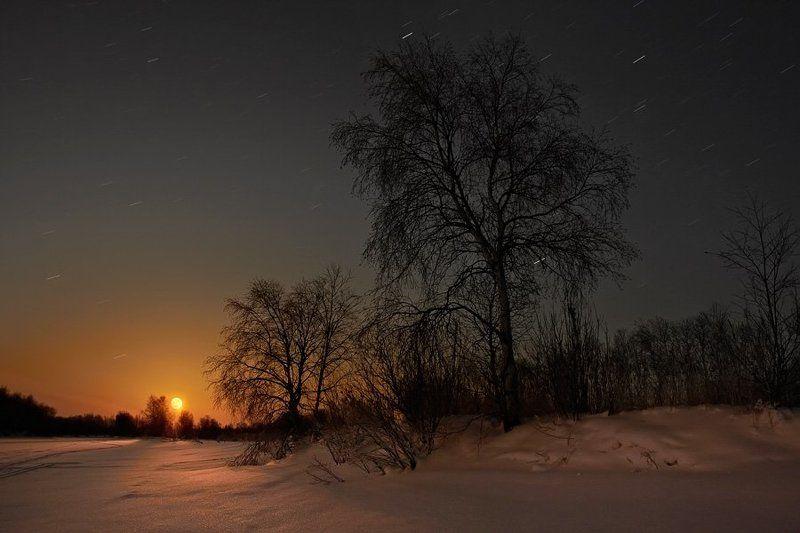 Полнолуние, 8 минут после восходаphoto preview