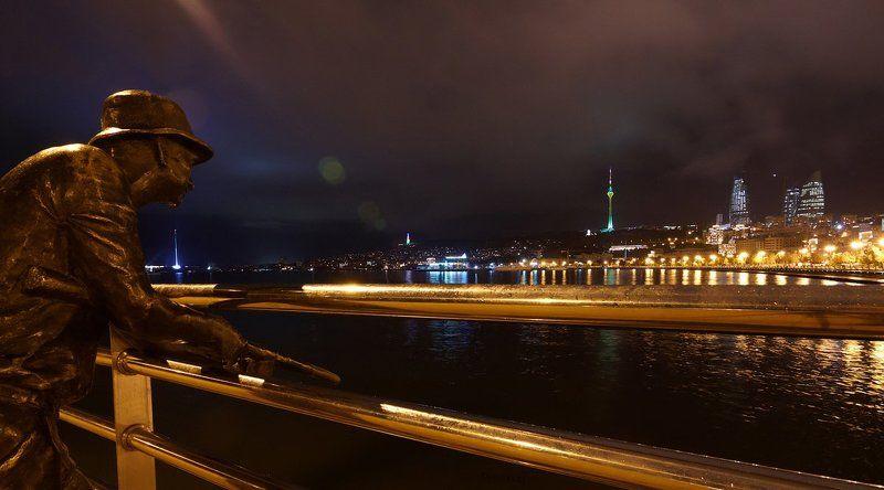баку, ночь, город Бакинские огонькиphoto preview