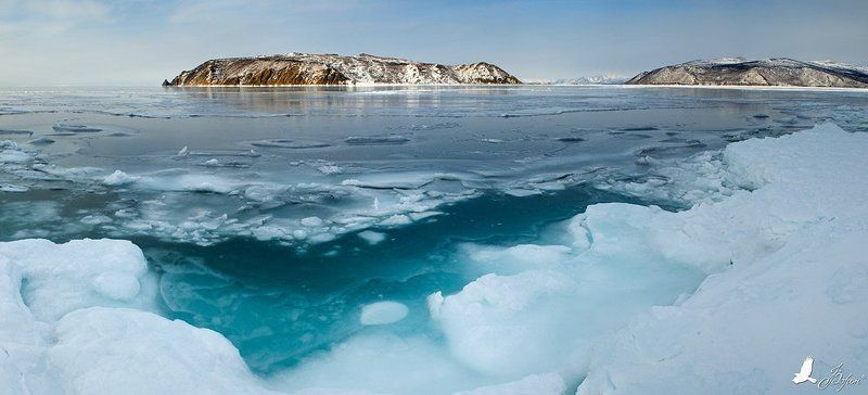 магадан, охотское, море, зима, остров, недоразумения, лед, вода Остров Недоразуменияphoto preview