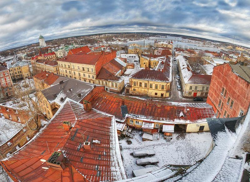 выборг, часовая башня Дворами старого города .photo preview