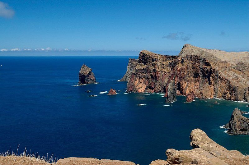 мадейра, скалы, океан, атлантика, ветер madeira, ponta de são lourençophoto preview
