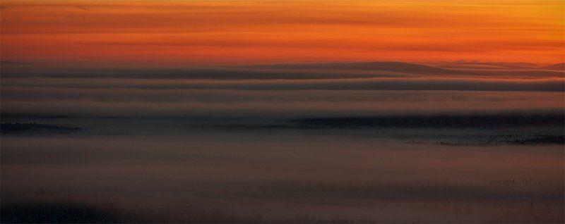кольский, полуостров, север, зима Над белой пеленойphoto preview