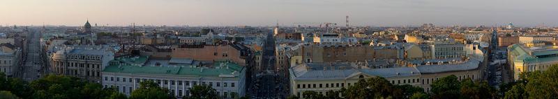 Длинная панорама. Повествующая о некоторых особенностях Санкт Петербурга, позволяющих использовать градиентный фильтр. Не только по инструкции, но также и в обратном направлении.photo preview