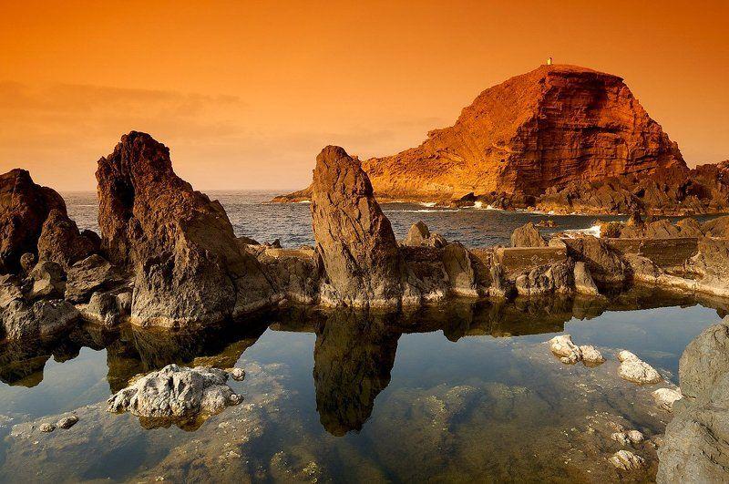 мадейра, скалы, океан, атлантика, вечер Red Planetphoto preview