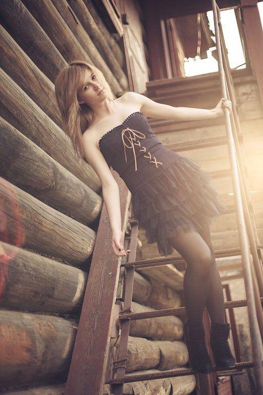 девочка, teen, контровый, свет, закат, лестница Maryphoto preview