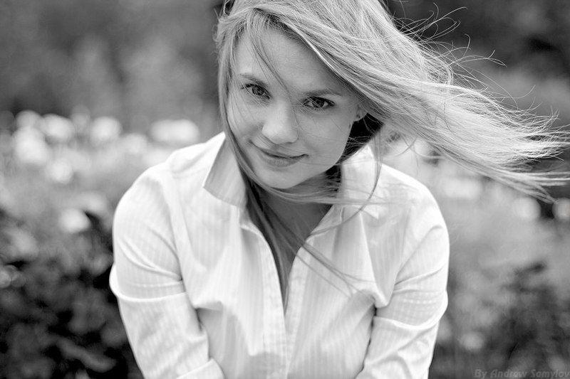 andrew samylov, one light photography, андрей самылов, портрет, девушка, чб Настяphoto preview
