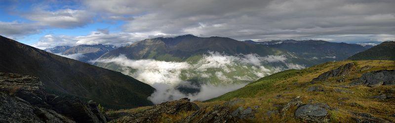 алтай, горы, утро, рассвет, облака, капчал После дождя природа улыбаетсяphoto preview
