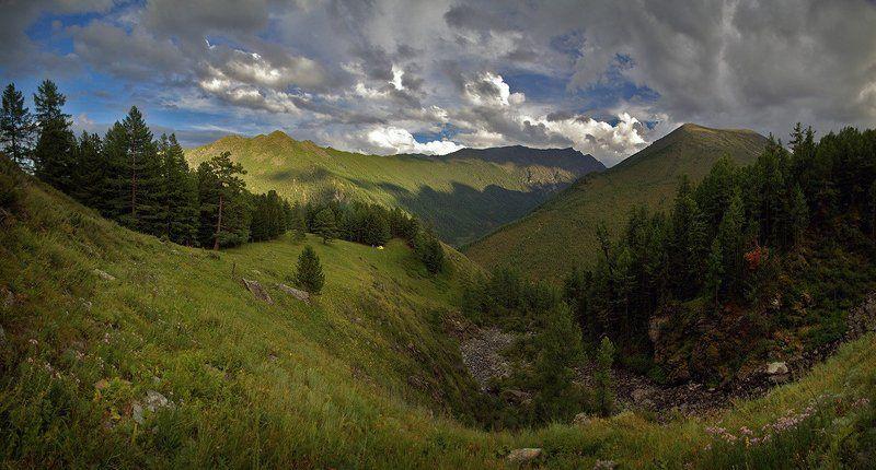 облака, горы, кедры, калагаш Вечер над Калагашемphoto preview