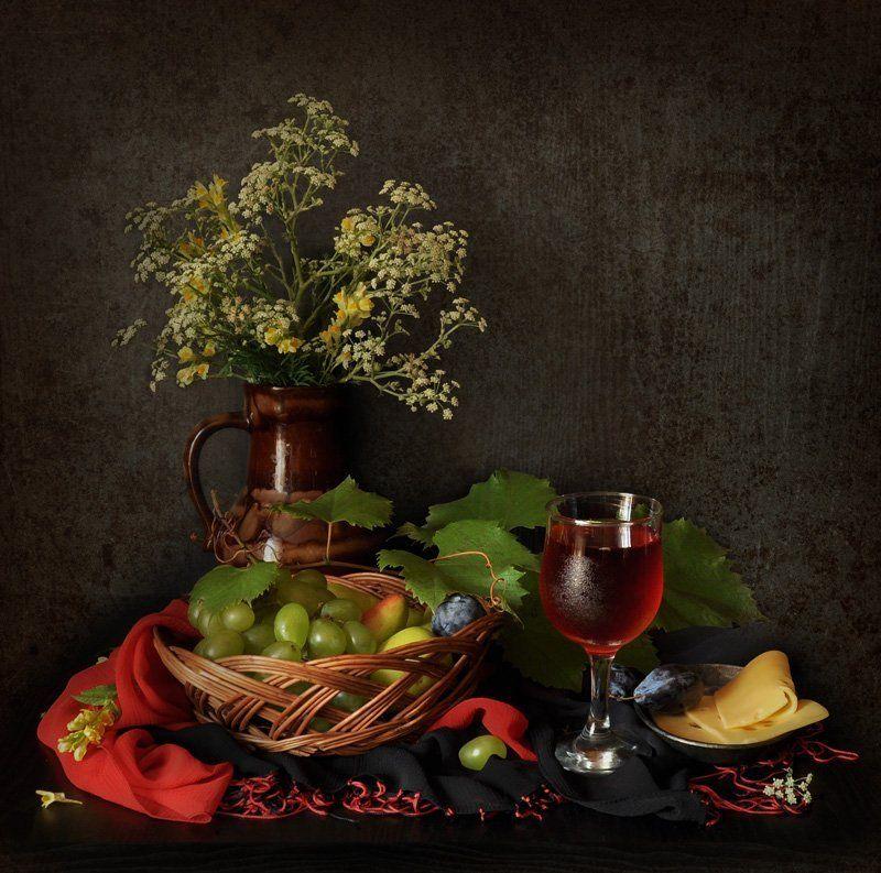 виноград, сок, сыр photo preview