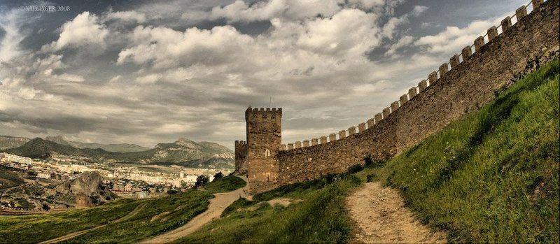 пейзаж Генуэзская крепость, Судакphoto preview