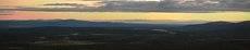 Панорама теплой северной июльской ночи
