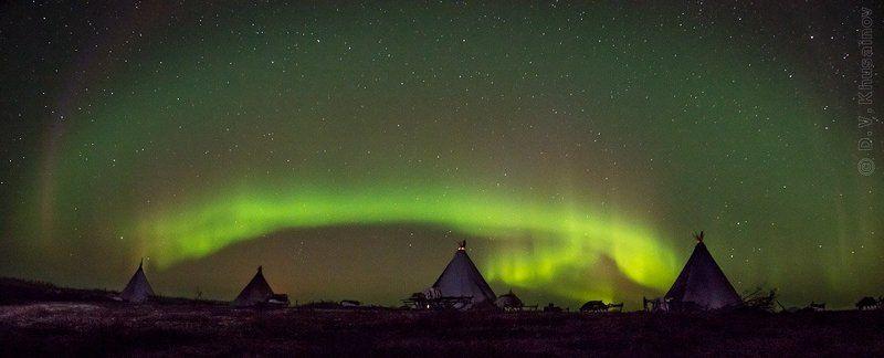 aurora borealis, северное сияние, север, ночной пейзаж, чумы Aurora Borealis 2012 #4photo preview