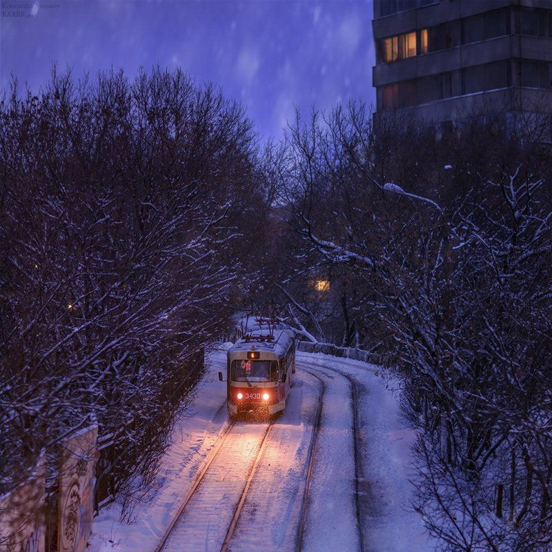 Снежные трамвайчикиphoto preview