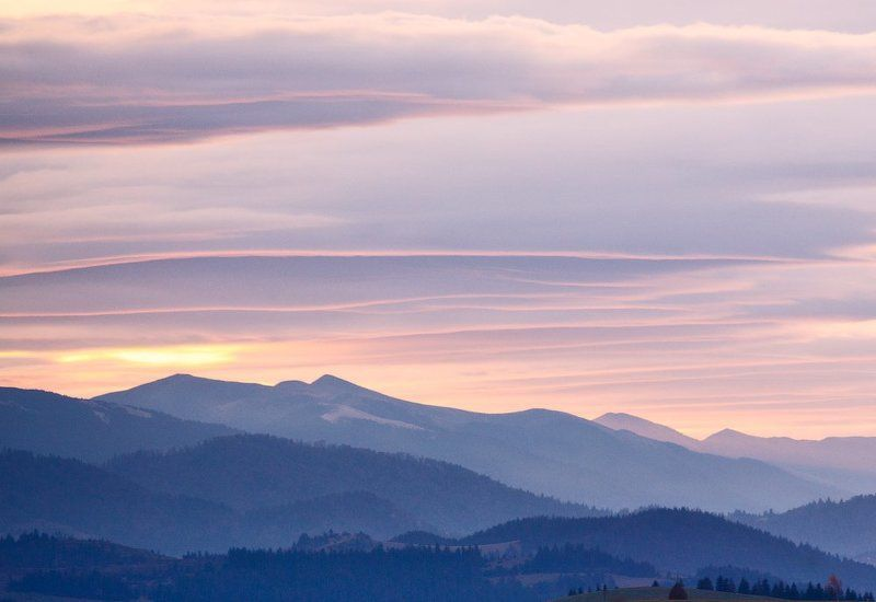 карпаты, осень, утро, горы, рассвет ...Рассветная...photo preview