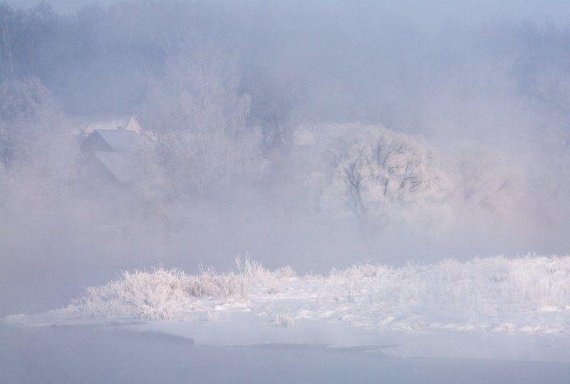 зима, река, туман, мороз, утро ...Зимние истории..photo preview