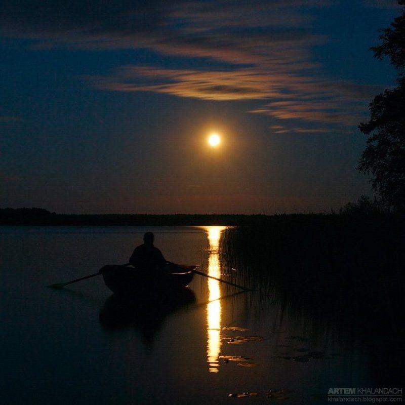 селигер Ночь. Озеро...photo preview