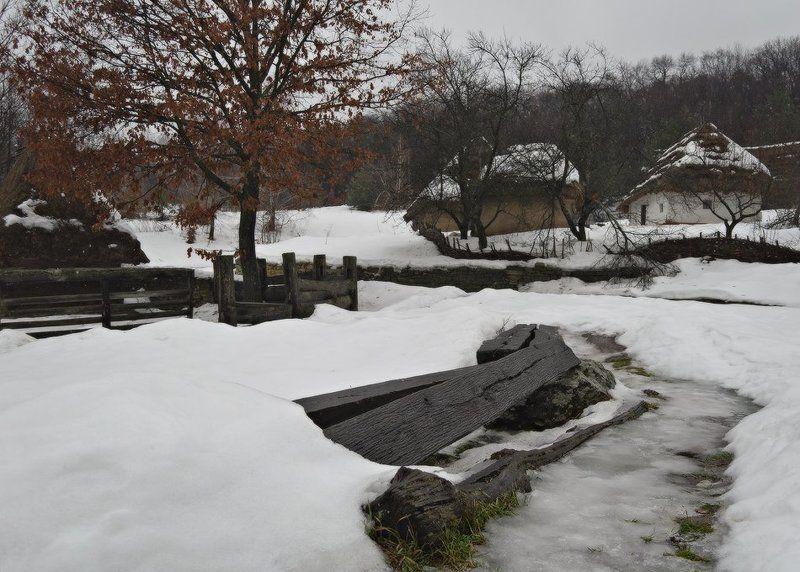 пирогово, киев, украина, музей, зима, снег, хата Зима в Пироговоphoto preview