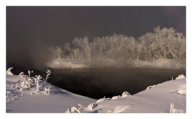 вода, туман, берег, деревья Духи водыphoto preview