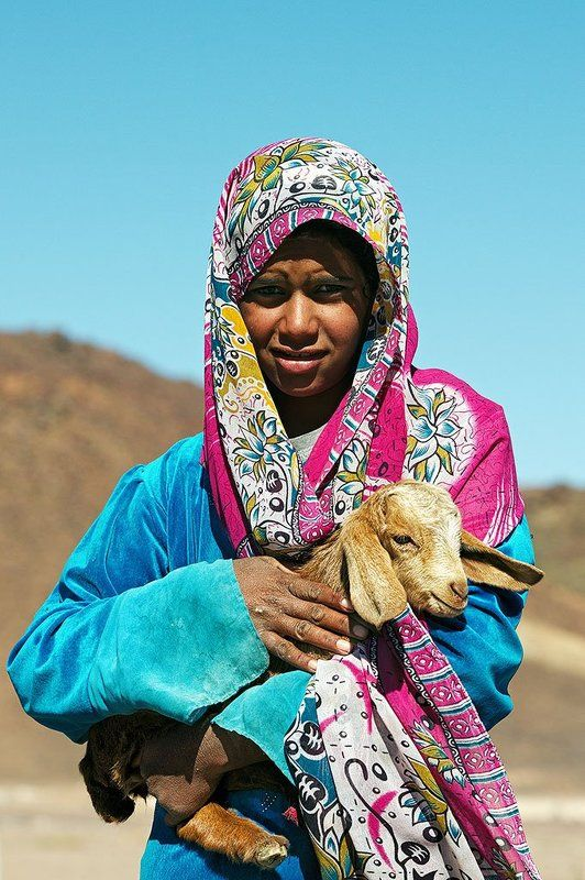 Bedouin Girl With Lambphoto preview