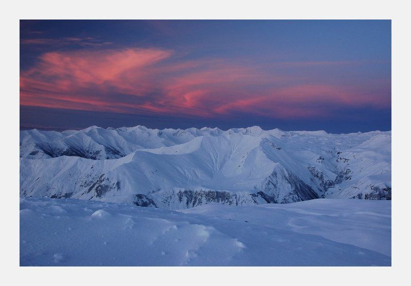 гудаури, грузия, горы, рассвет Рассветнаяphoto preview