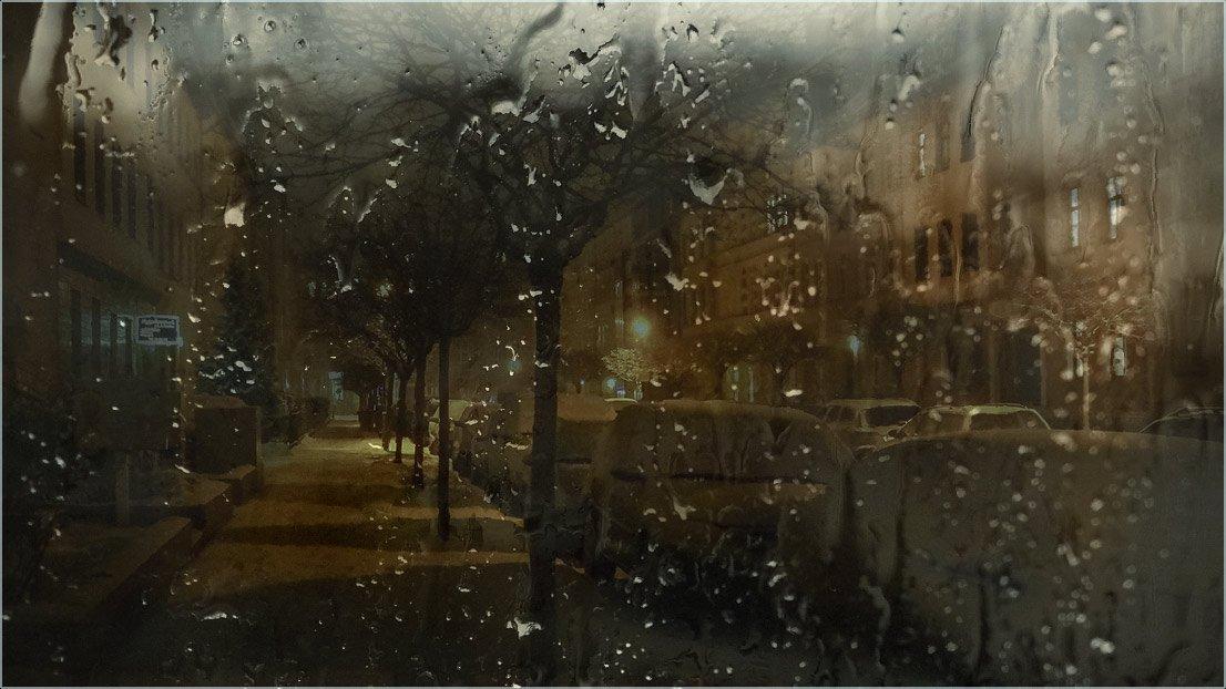 foto liubos, вечер, дождь, улица, город, германия, бранденбург, Любовь Селиванова