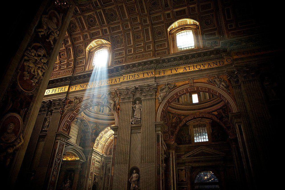 Cathedral, Golden, Italy, Light, Peter, Rome, St, Vatican, Window, Anton Akhmatov