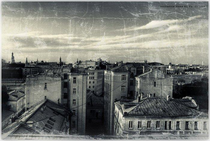 город, крыши, прогулки, Сборщик