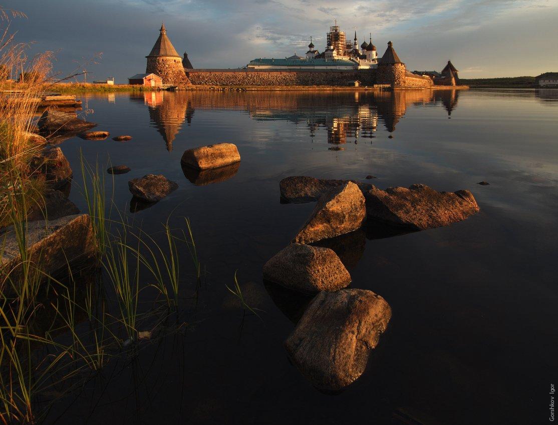 кремль, монастырь, озеро, рассвет, русский, север, соловки, утро, Gorshkov Igor_Feanorus