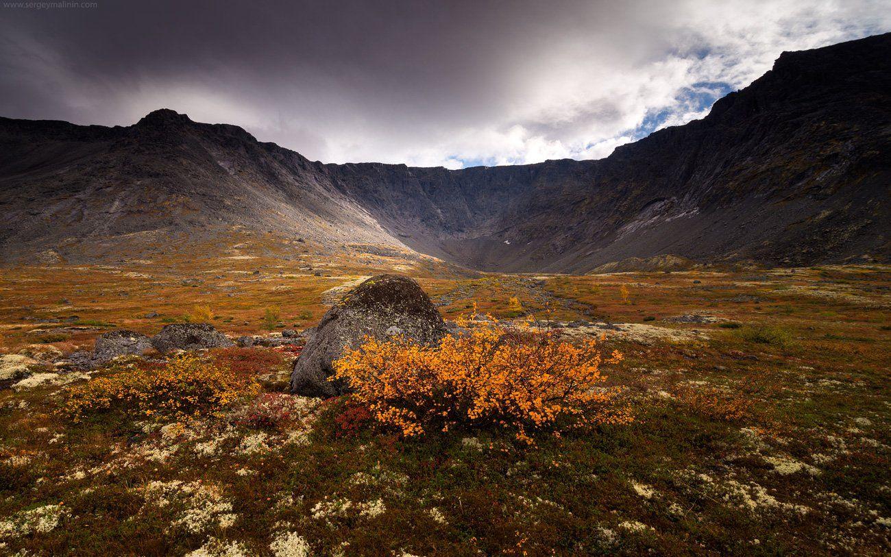 Autumn, Khibiny, Light, Mountains, Горы, Кольский, Малая белая, Осень, Хибины, Сергей Малинин