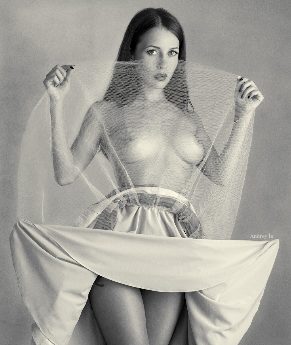 Art nude, Beauty, Black & white, Black&white, Nude, Андрей Ио
