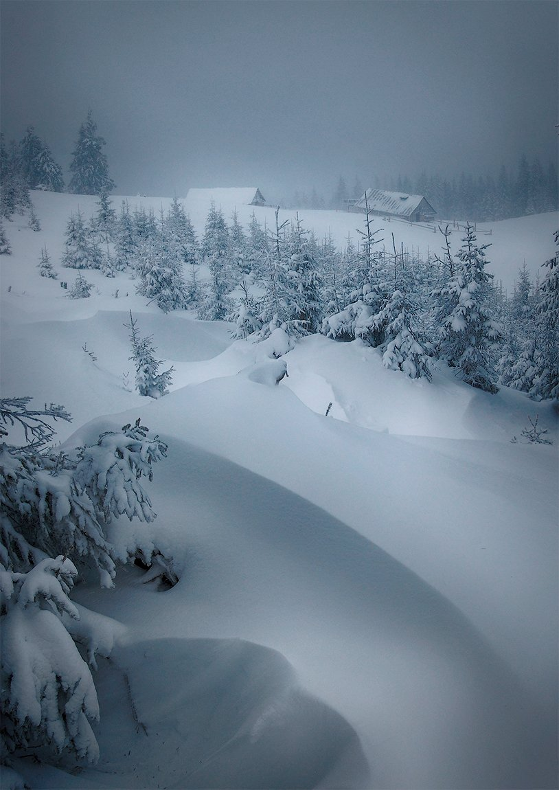 Зима, Карпаты, Метель, flyman