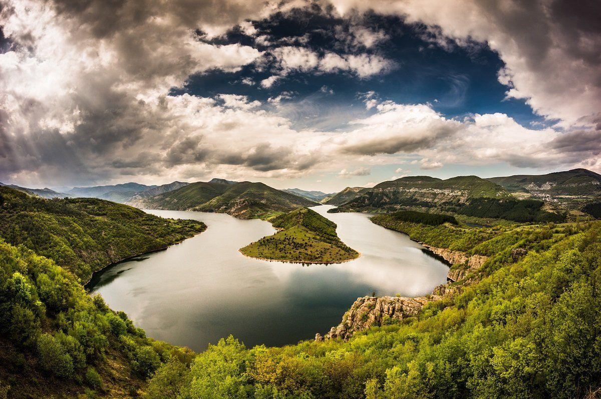 Canyon, Clouds, Colorful, Curve, Landscape, Water, Watercurve, Boris Preslavski