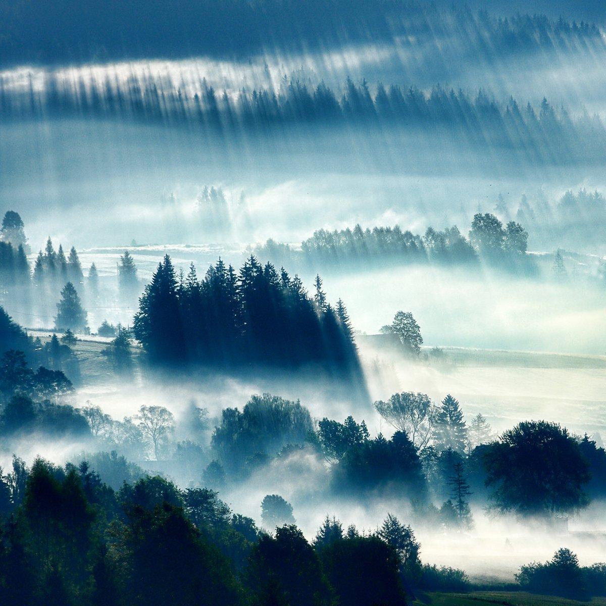 mountains, fog , Boguslaw Strempel